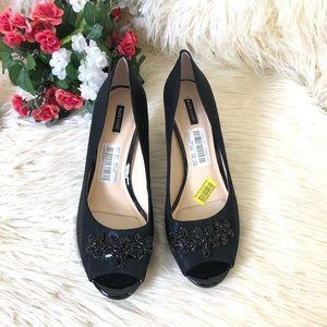 Alex Marie Women's Peep Toe Pump Heels Shoes